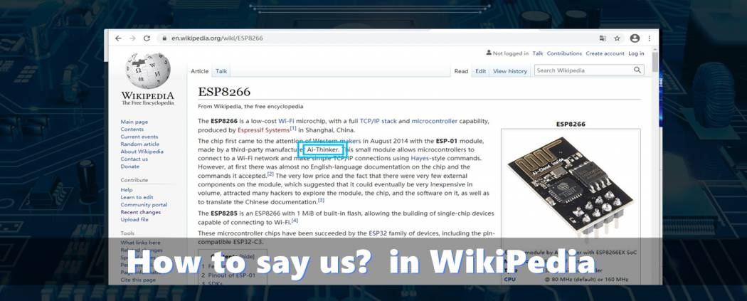 Find us in wikipedia